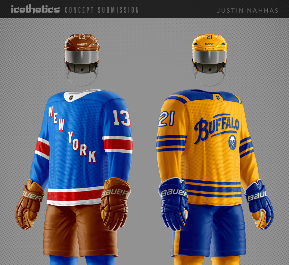 timeless design 40007 47b05 Retro Rangers and Sabres — icethetics.co