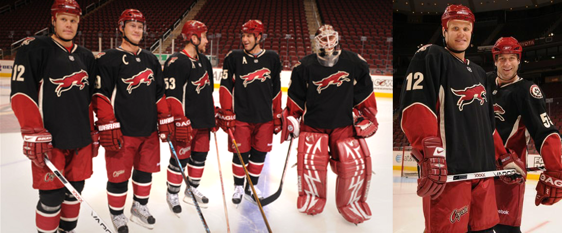 Coyotes unveil third jersey in 2008.
