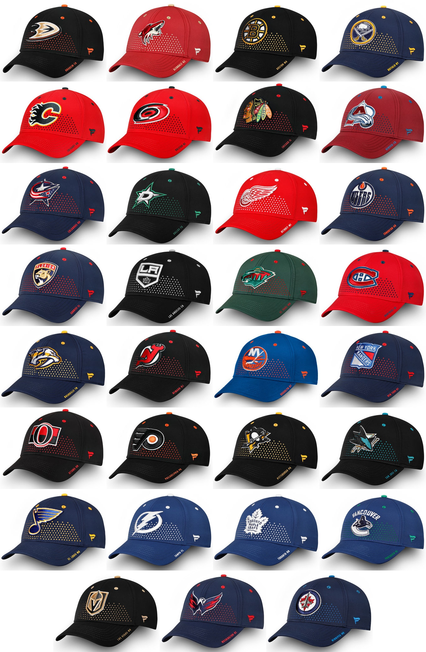 huge discount fff02 ced60 Do the 2018 NHL Draft hats preview any new jerseys ...