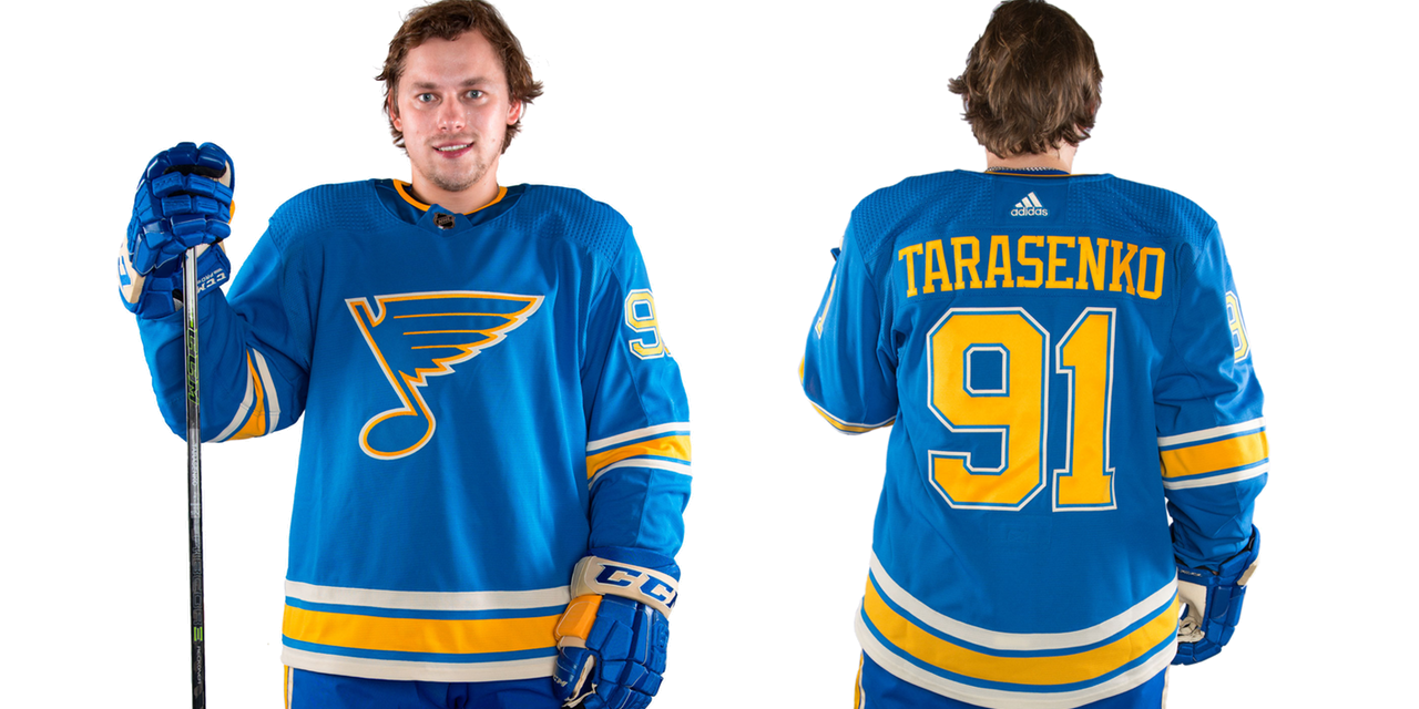 hot sales 52980 a251f Blues promote Winter Classic look to third jersey ...