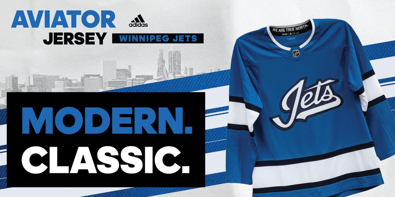 new style 1b5be b2193 Winnipeg Jets officially reveal Aviator third jersey ...