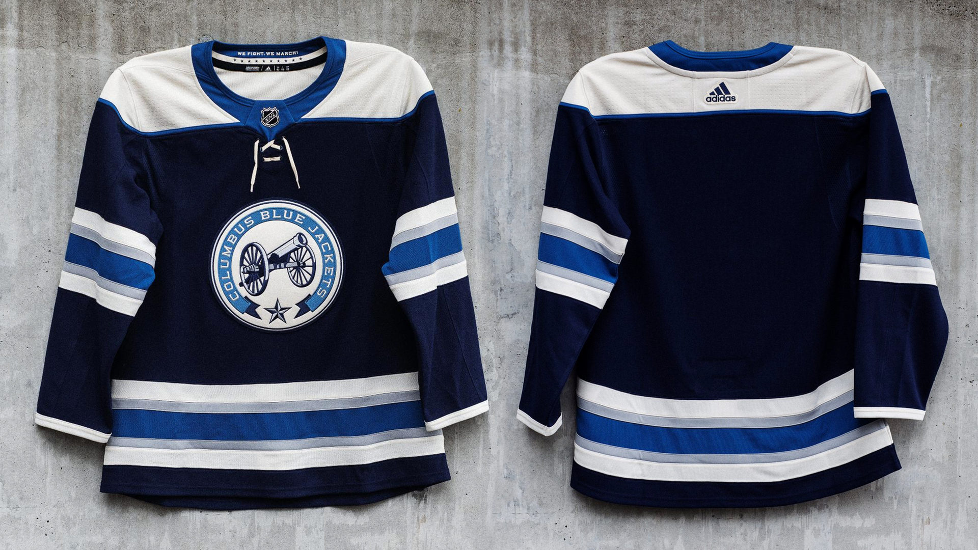 the latest 40d1d 6f2ab columbus blue jackets cannon jersey