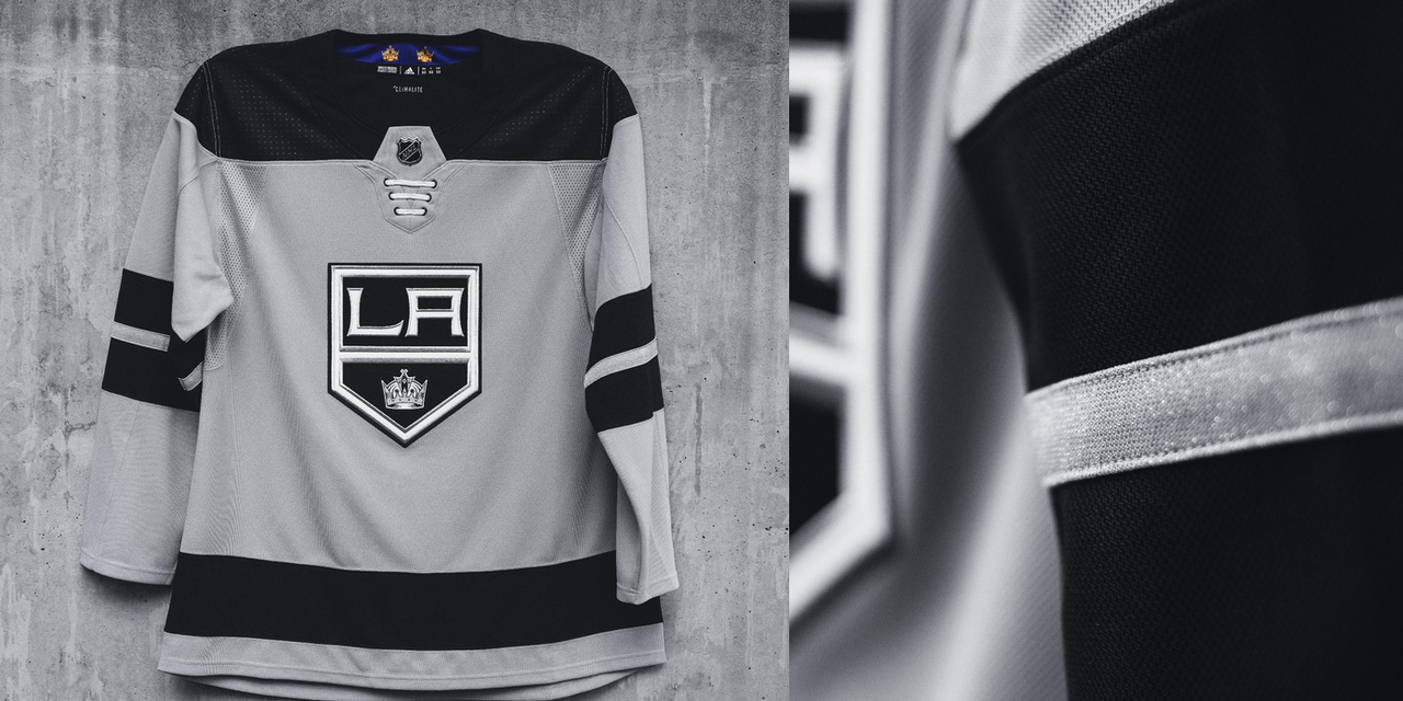 official photos cbaad ac608 la kings lace up jersey