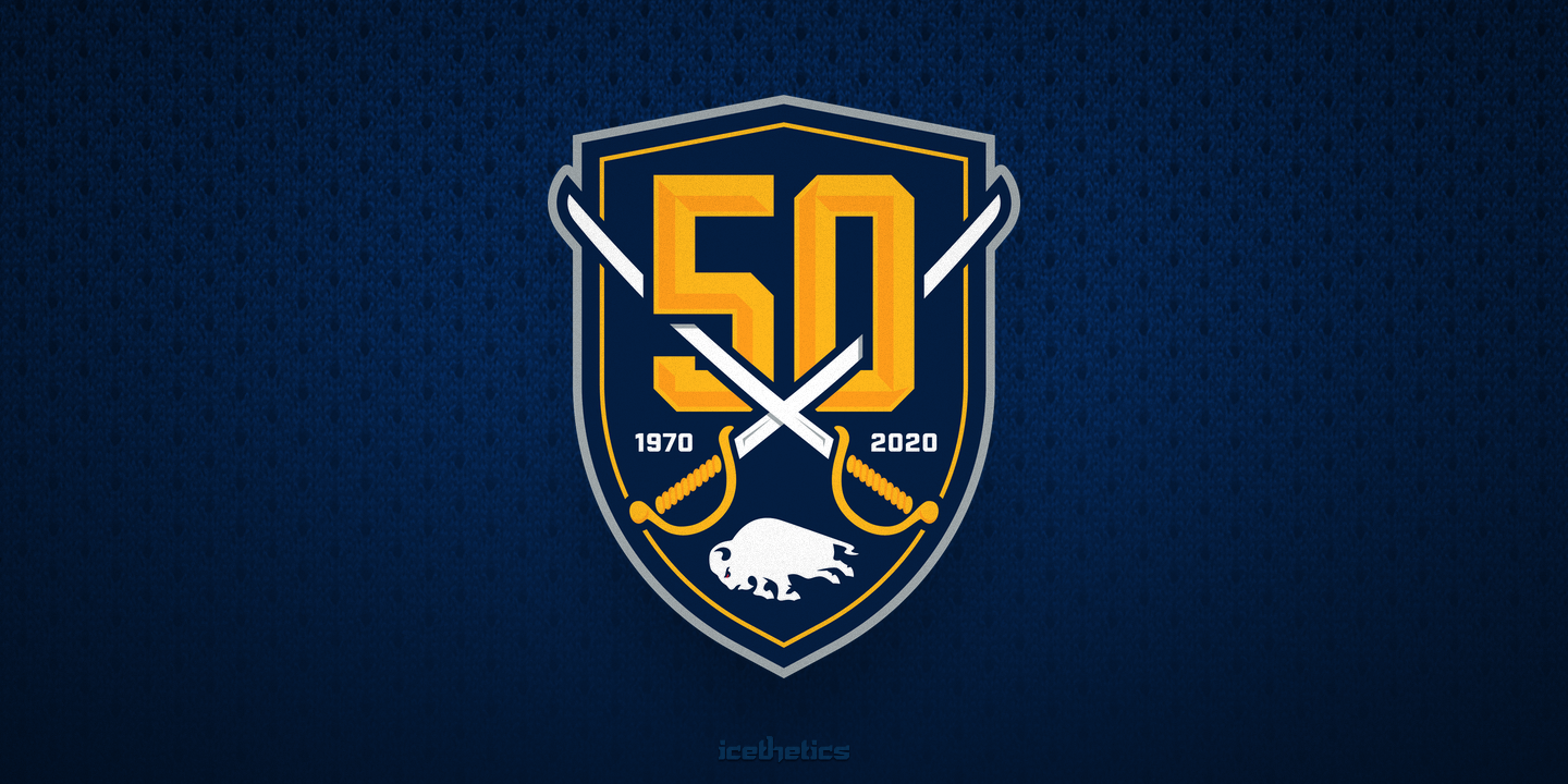 best authentic a75d2 ab17a 50/50: Anniversary logos mark milestones for Sabres, Canucks ...