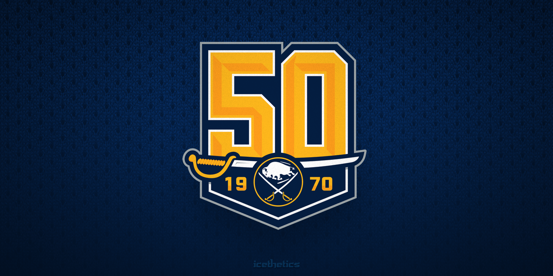 Buffalo Sabres 50th anniversary alternate logo / 2019-20