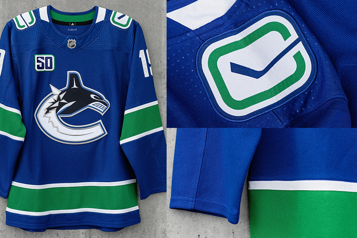 sports shoes 1bc40 9846c Canucks unveil quartet of new sweaters for 50th anniversary ...