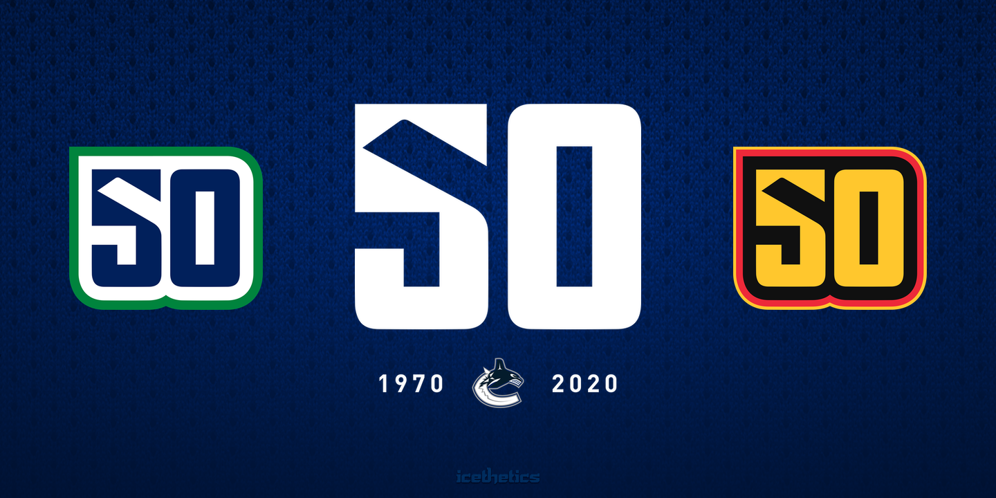 Vancouver Canucks 50th Anniversary logo suite