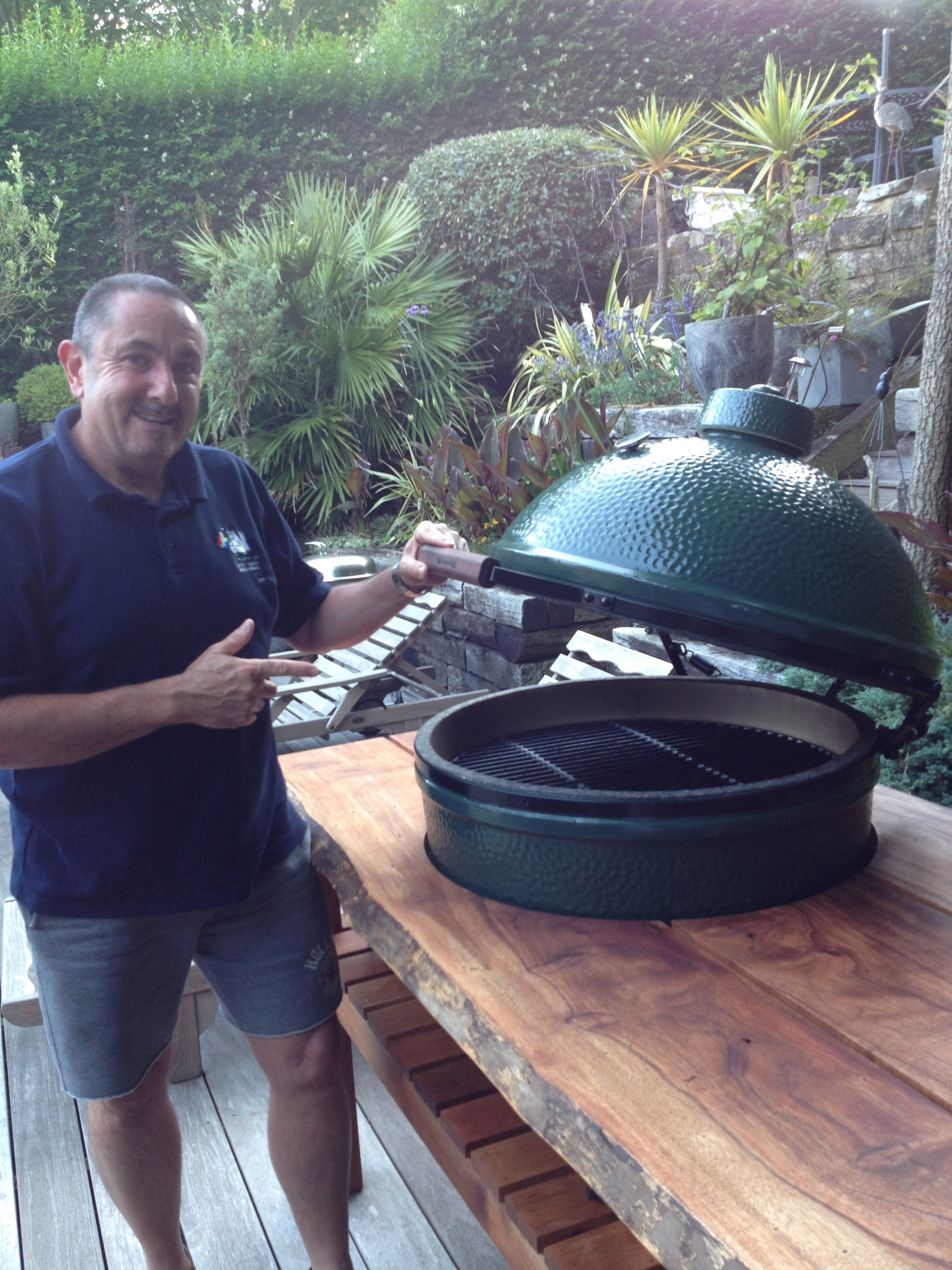 Larry and his Big Green Egg