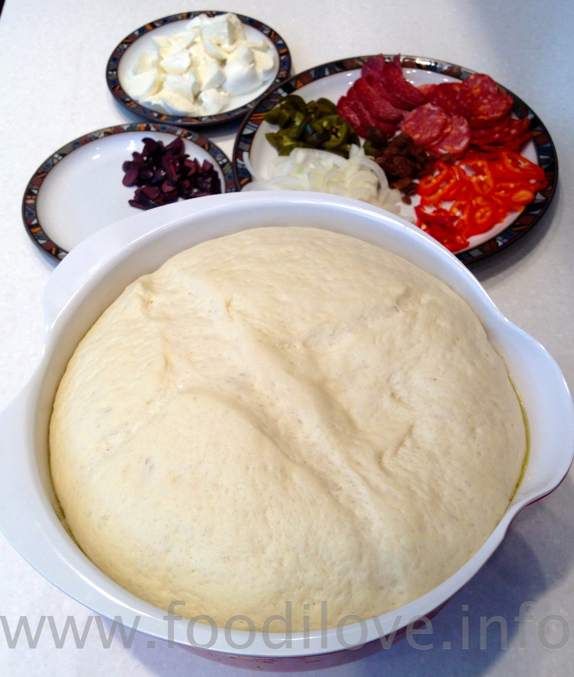 Dough has more than doubled in size
