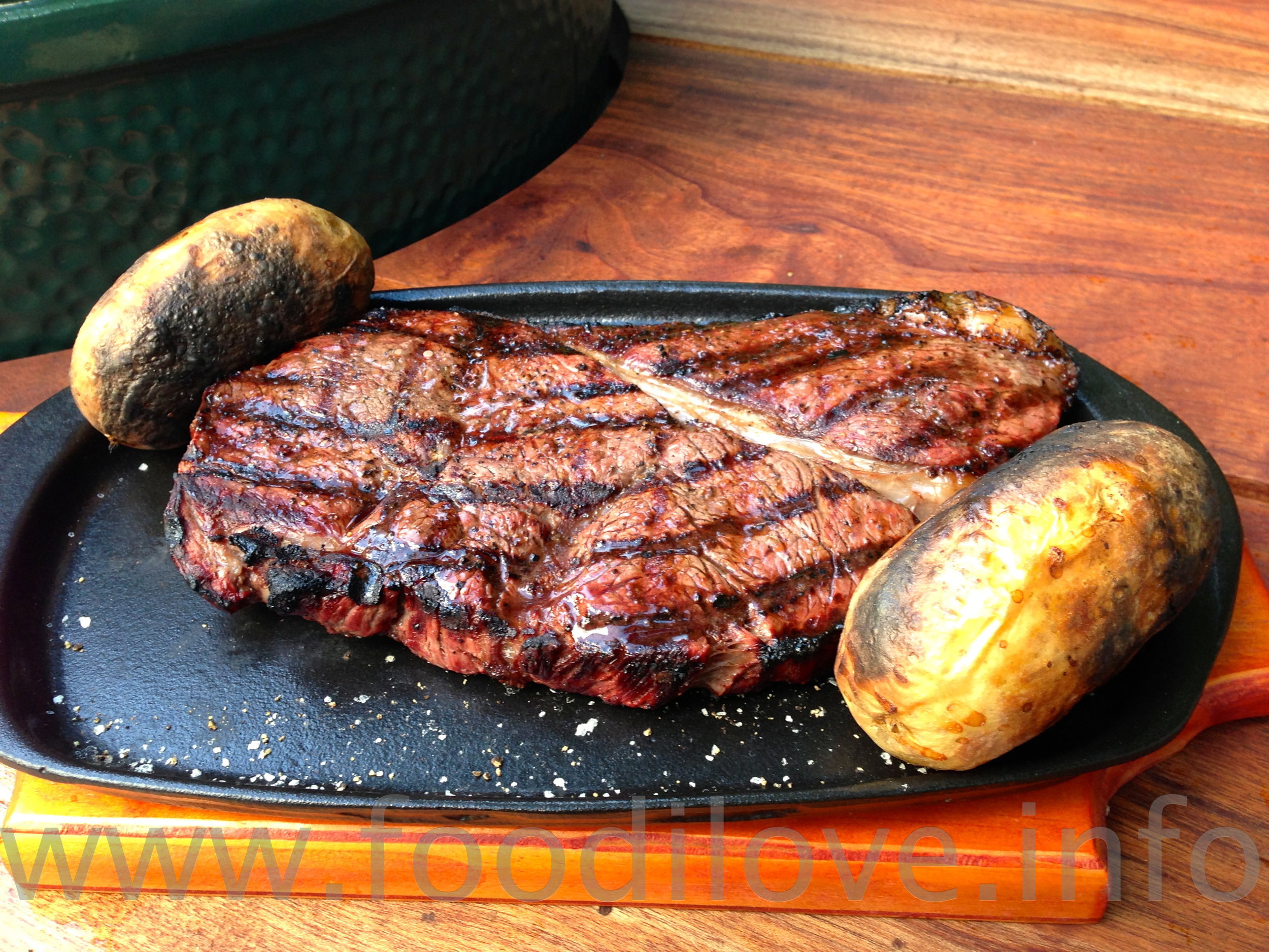 Blue Bull Steak, 850g of Black Gold Rump Steak