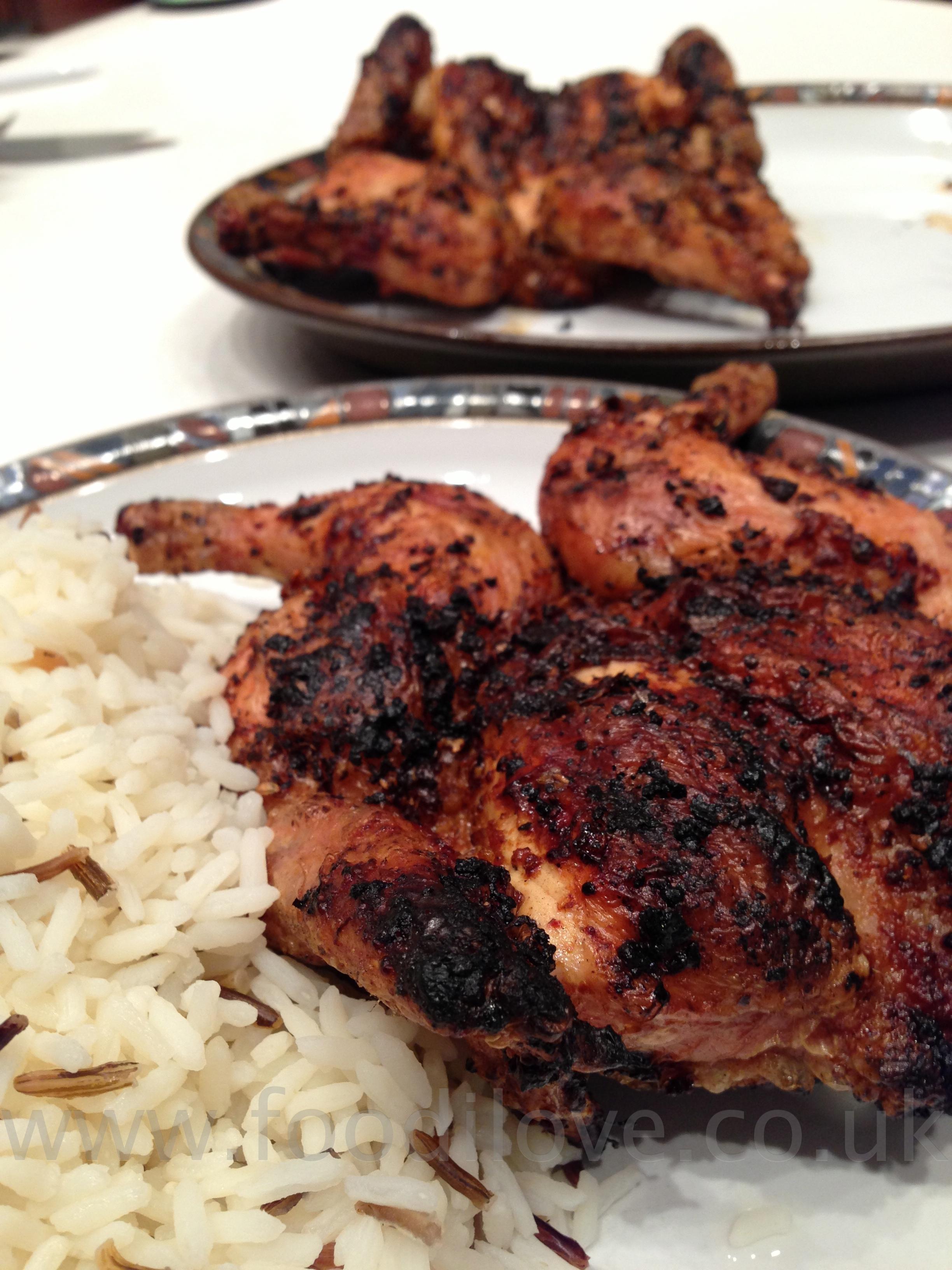 Mozambican Peri-Peri Chicken braaied on the BigGreenEgg