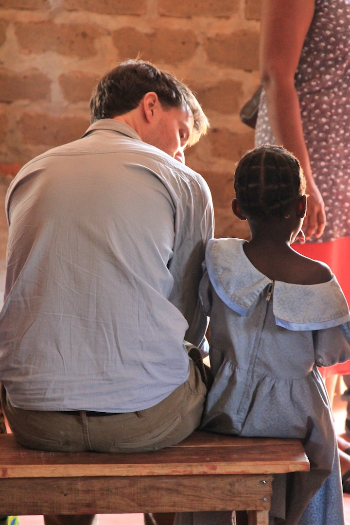 Marc with a friend in the community of Kafubu Block, Zambia.