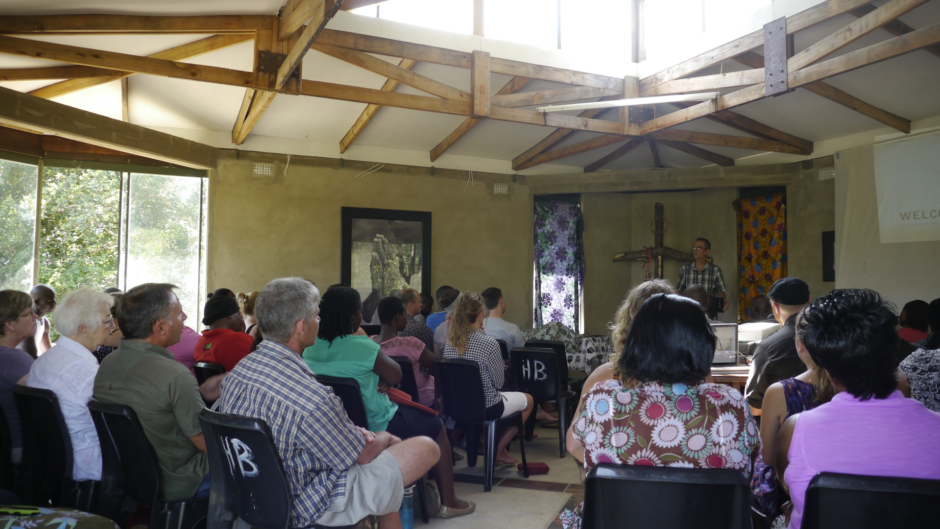 The Hands at Work community in South Africa being introduced to the 2014 WatchWord.