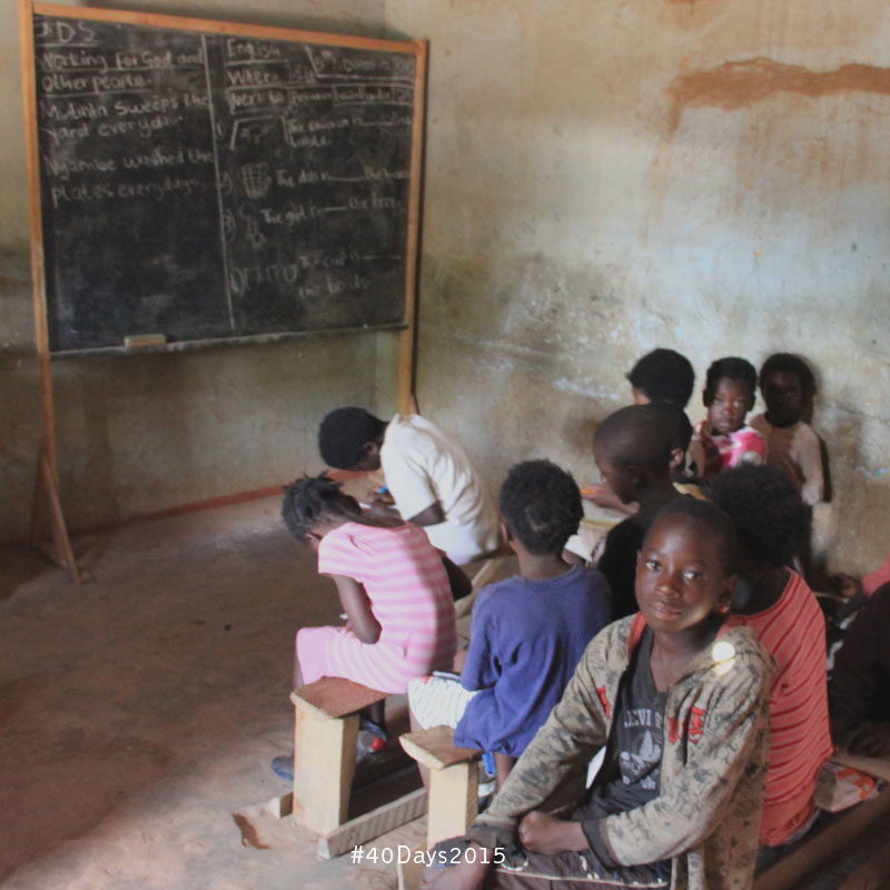 A classroom in Zambia