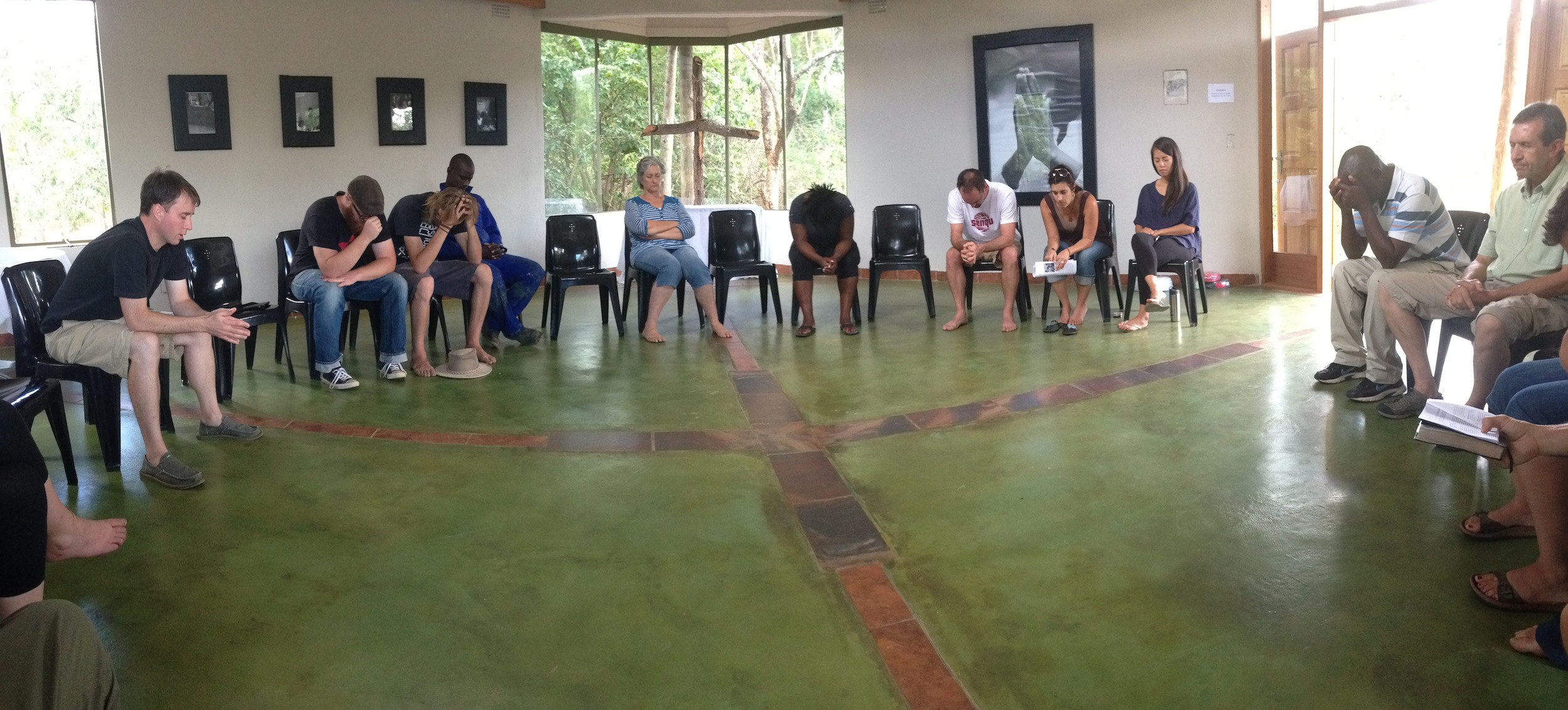 The Hands at Work Family prays together daily in the chapel at the Hub in South Africa