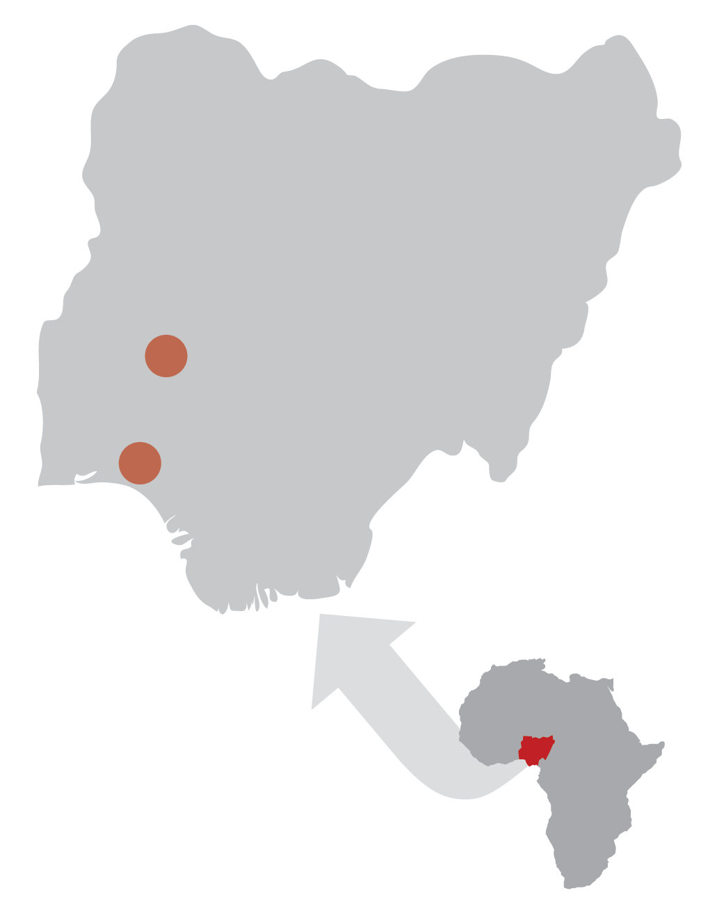 Areas in Nigeria being impacted by Hands at Work