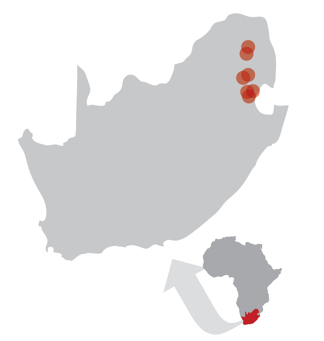 Areas in South Africa being impacted by Hands at Work