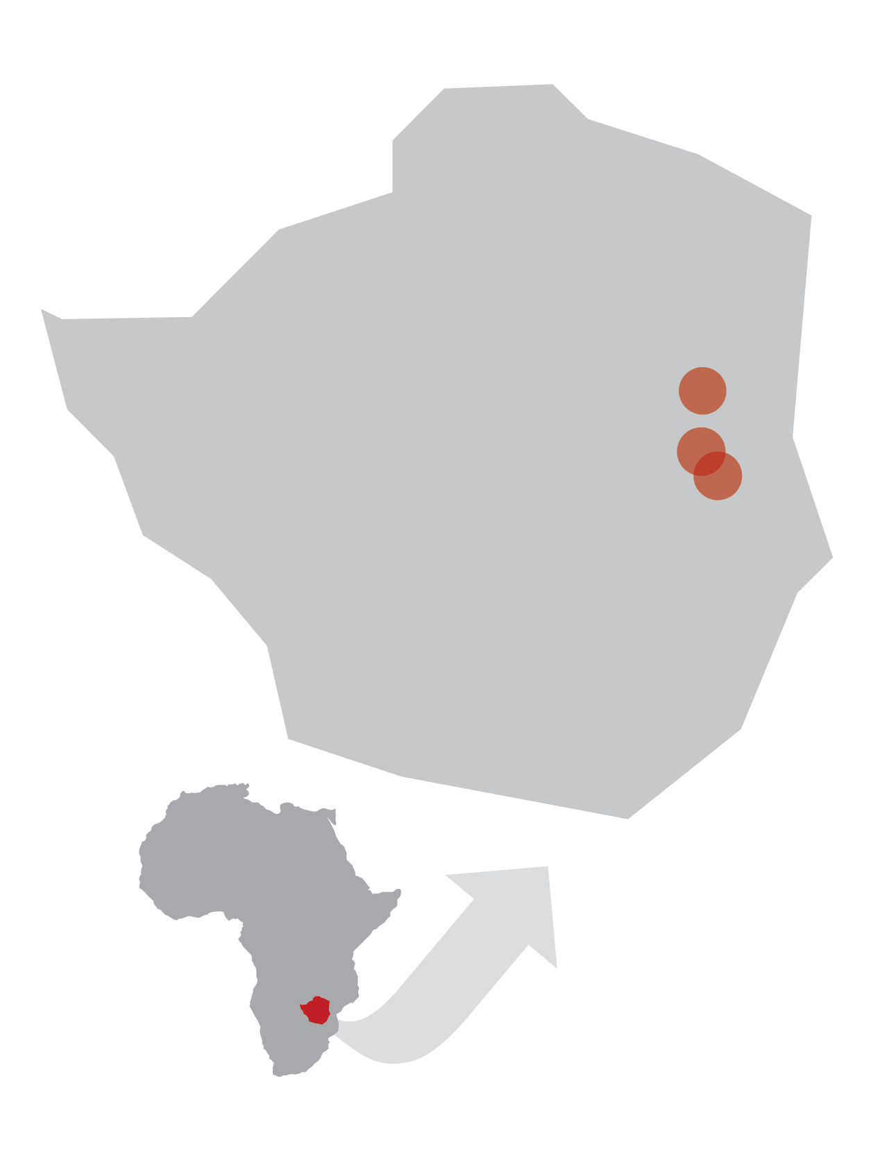 Areas in Zimbabwe being impacted by Hands at Work