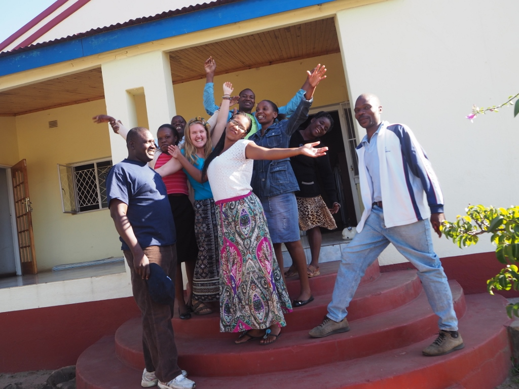 Jade and Grace with the Service Centre Team in Zimbabwe