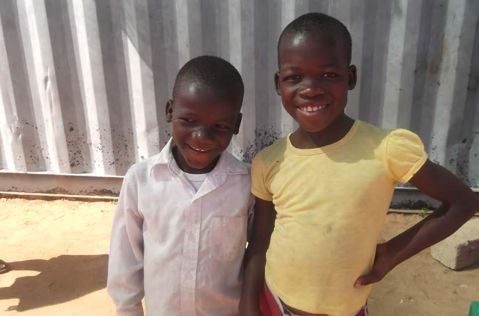 Nkosenhle (left) and Innocencia (right)