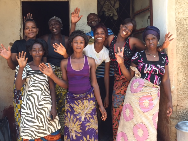 Sylvia (front left) and the other careworkers from Mulenga, Zambia.