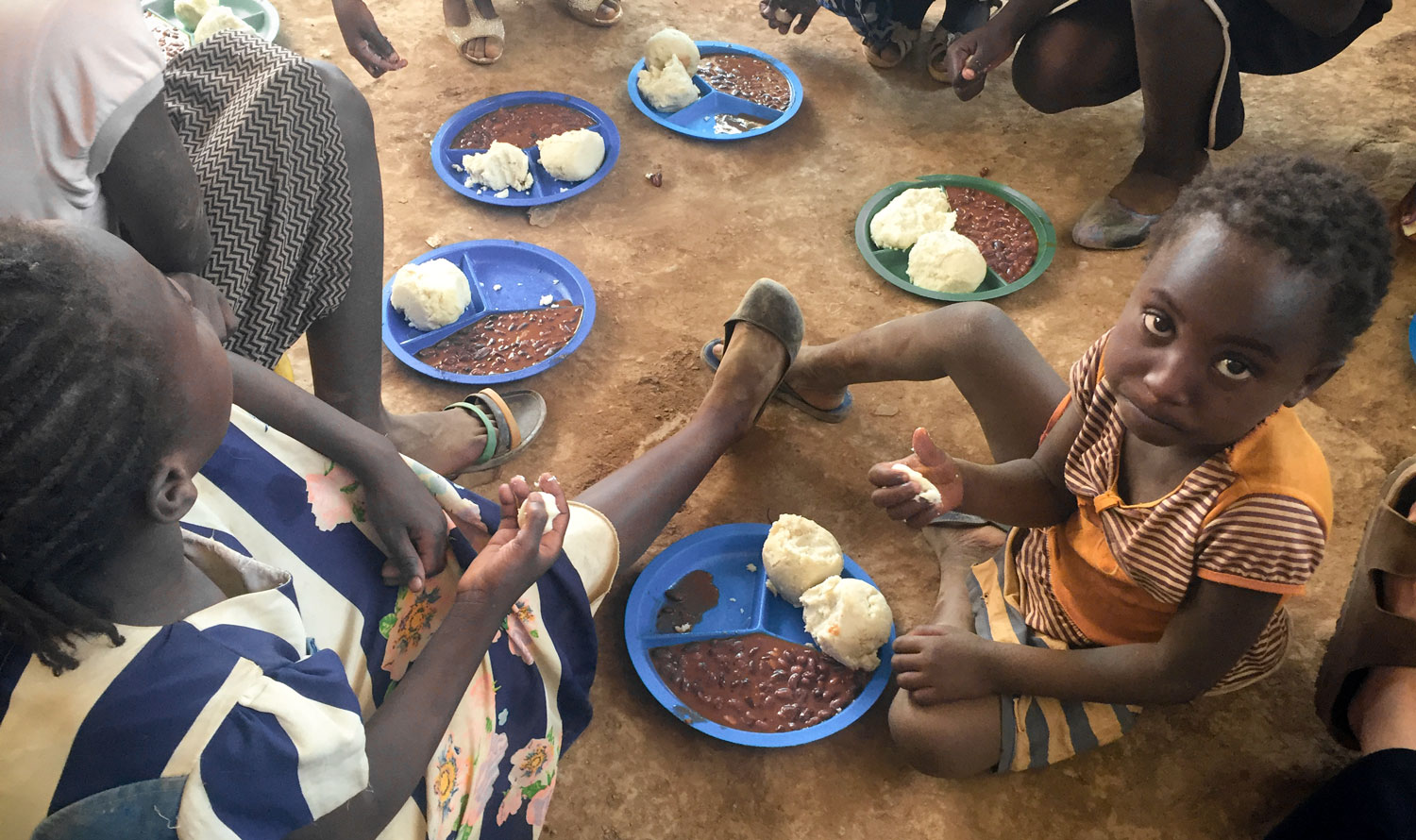 For many of the children in Kitabataba Community, the food that they receive at the Care Point is the only meal that they will receive that day.