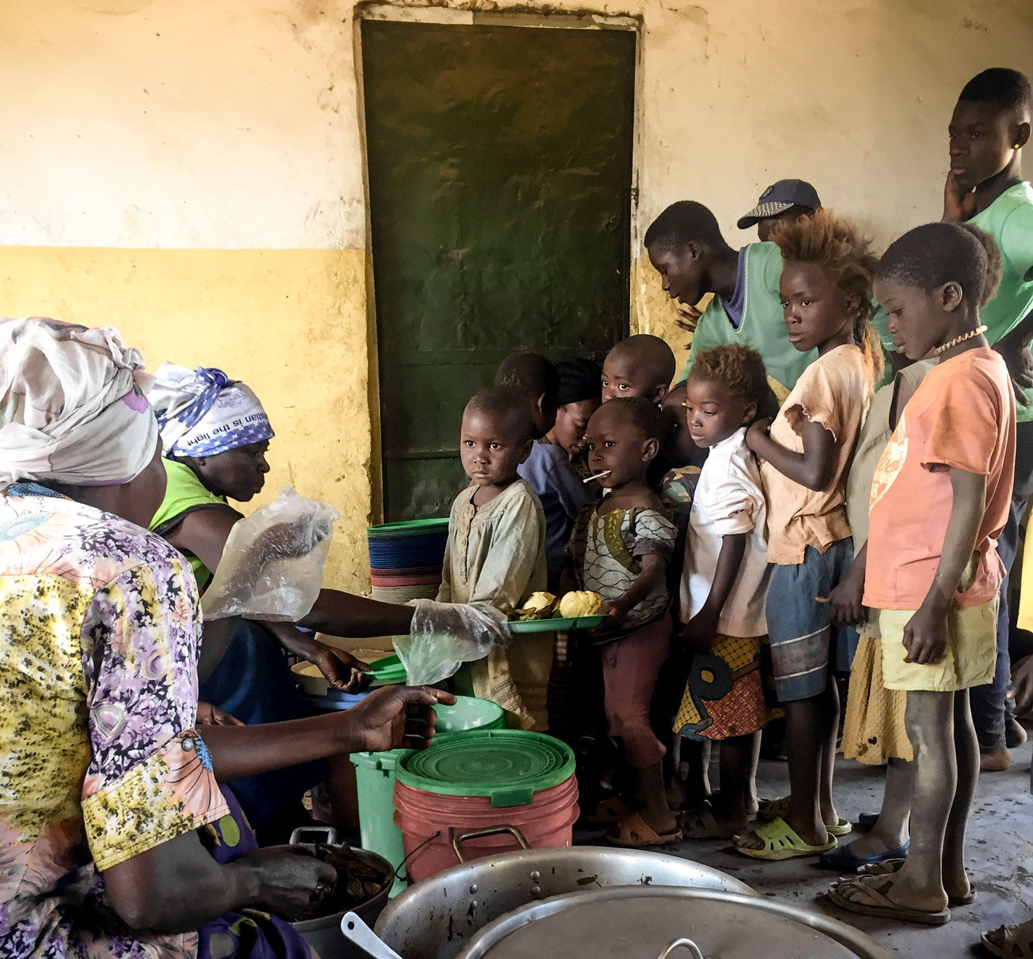 150 of the most vulnerable children in Toyota receive a daily meal, access to education and access to basic health care.