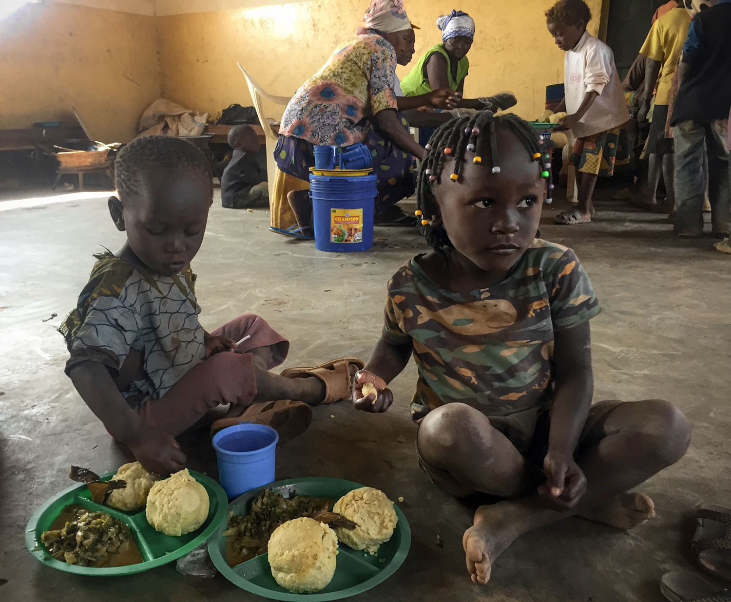 For many of the children in Toyota Community, the food that they receive at the Care Point is the only meal that they will receive that day.