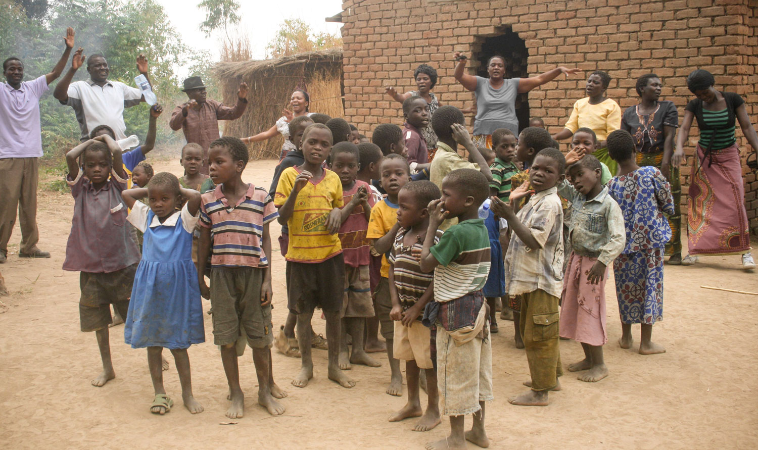 200 of the most vulnerable children in Mcheneke Community receive a daily meal, access to education and basic health care.