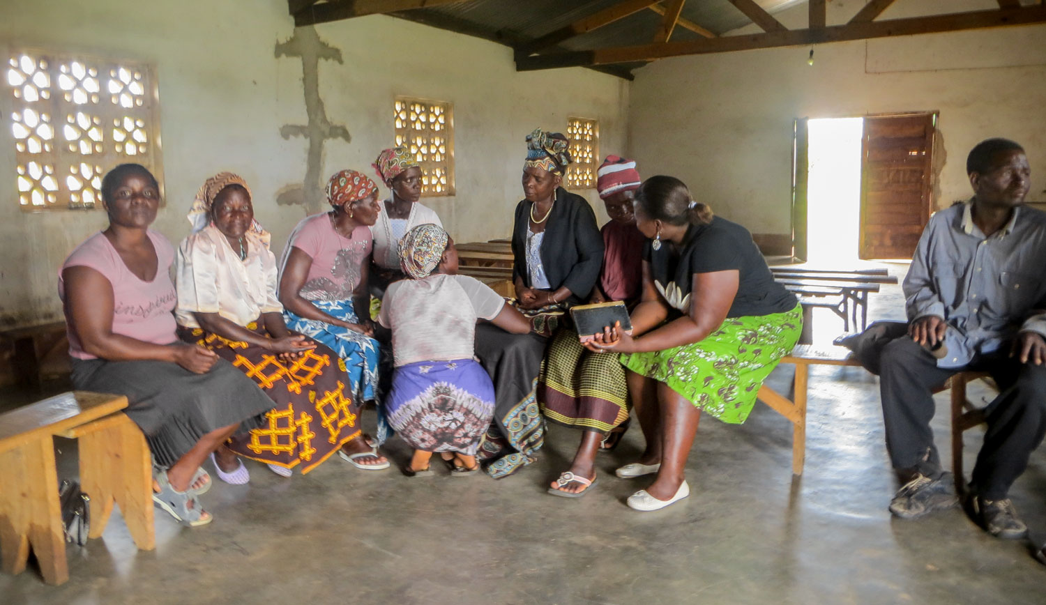 The Care Workers from the Matsinho Care Point meet on a regular basis to pray and share the word of God together.