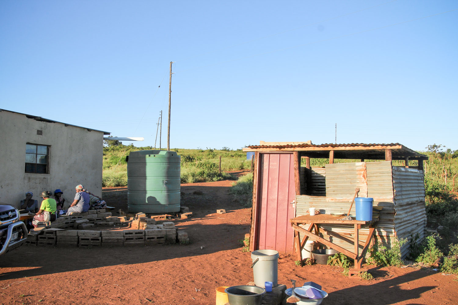 The Care Point has a water tank that is used to store water.