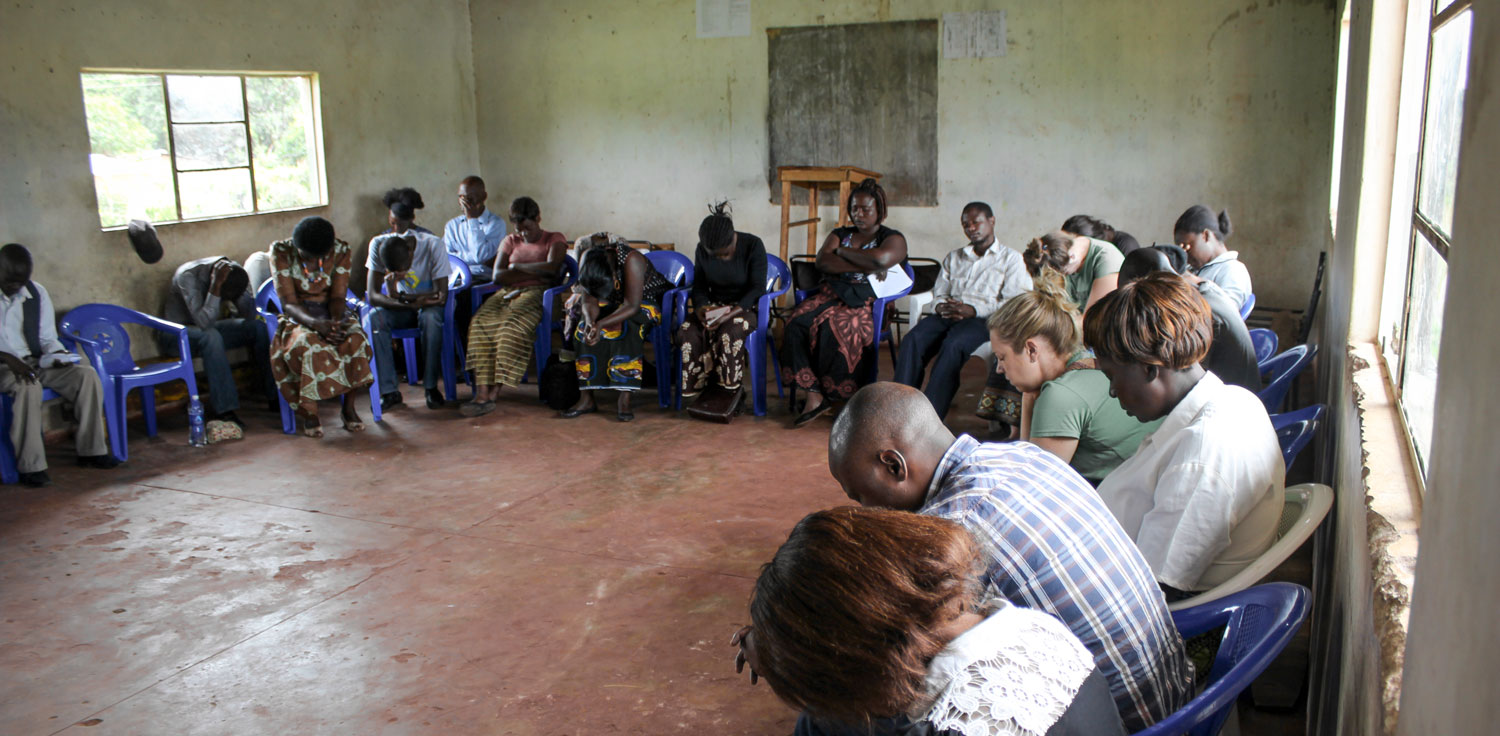 The Care Workers and the Zambian Regional Support Team meet on a regular basis to pray, worship and share scripture together.
