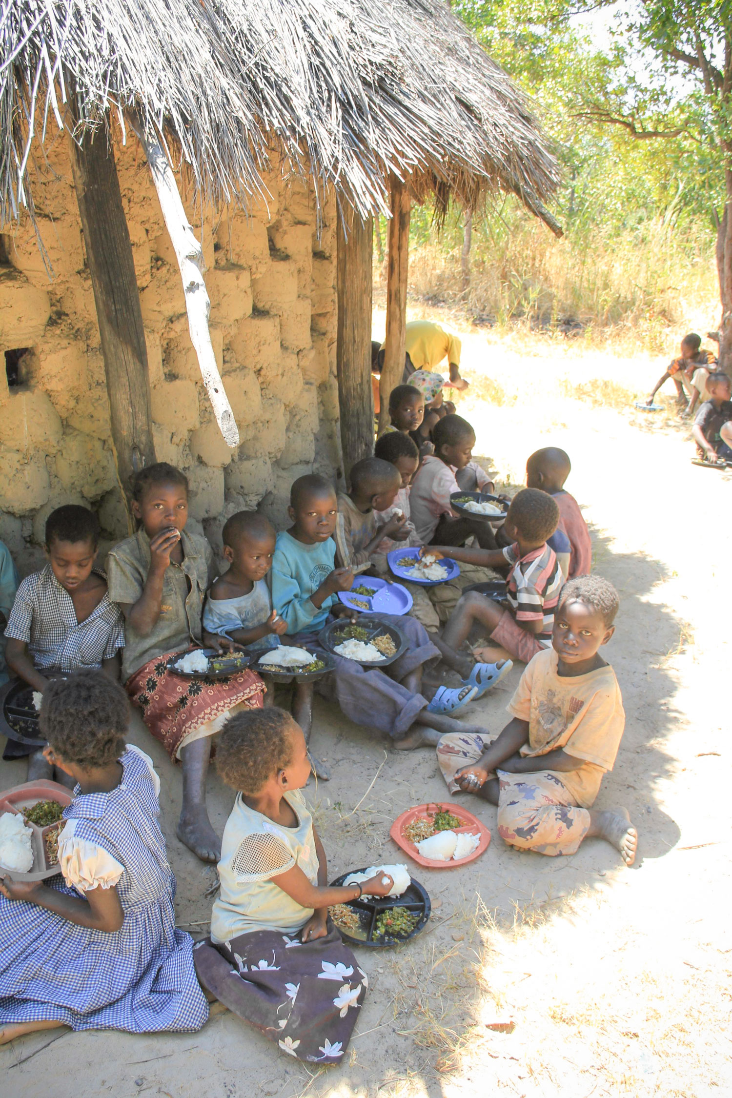For many of the children in Chibuli, the food that they receive at the Care Point is the only meal that they will receive that day.