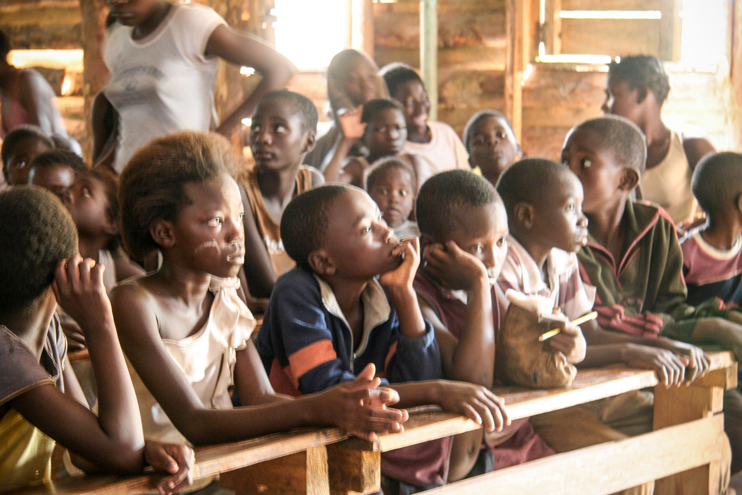 At the Mulenga Care Point, there is a community school where the children are taught.