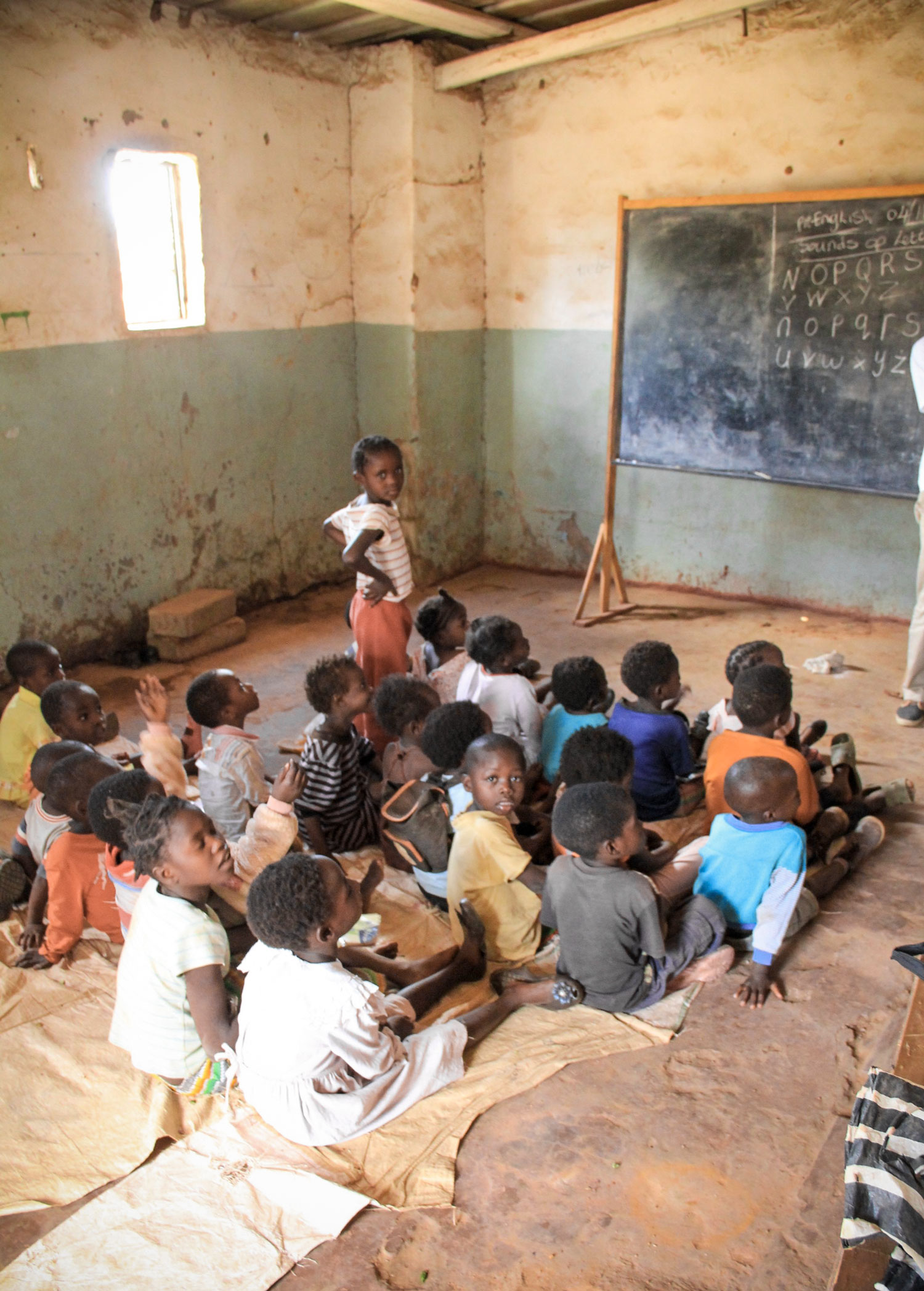 At the Racecourse Care Point, there is a community school where the children are taught.