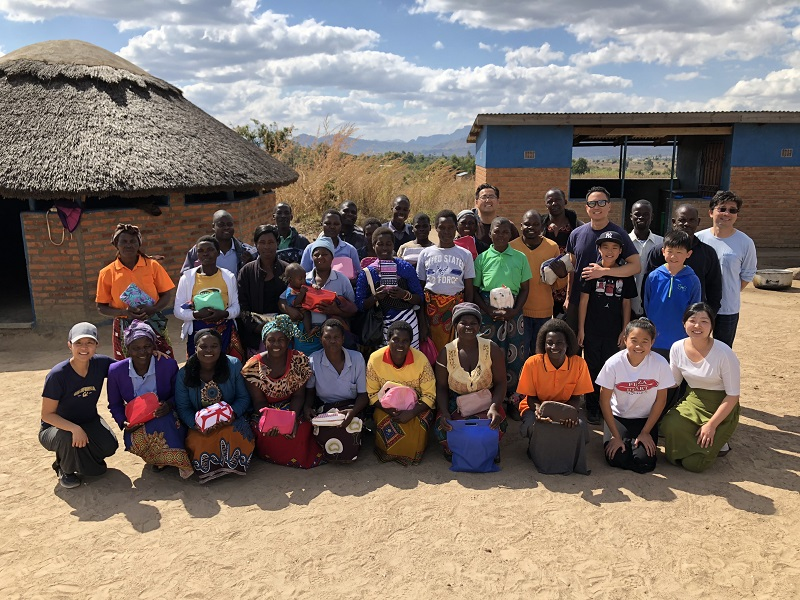 The Wellspring Church team along with the Care Workers at the Mcheneke Care Point.