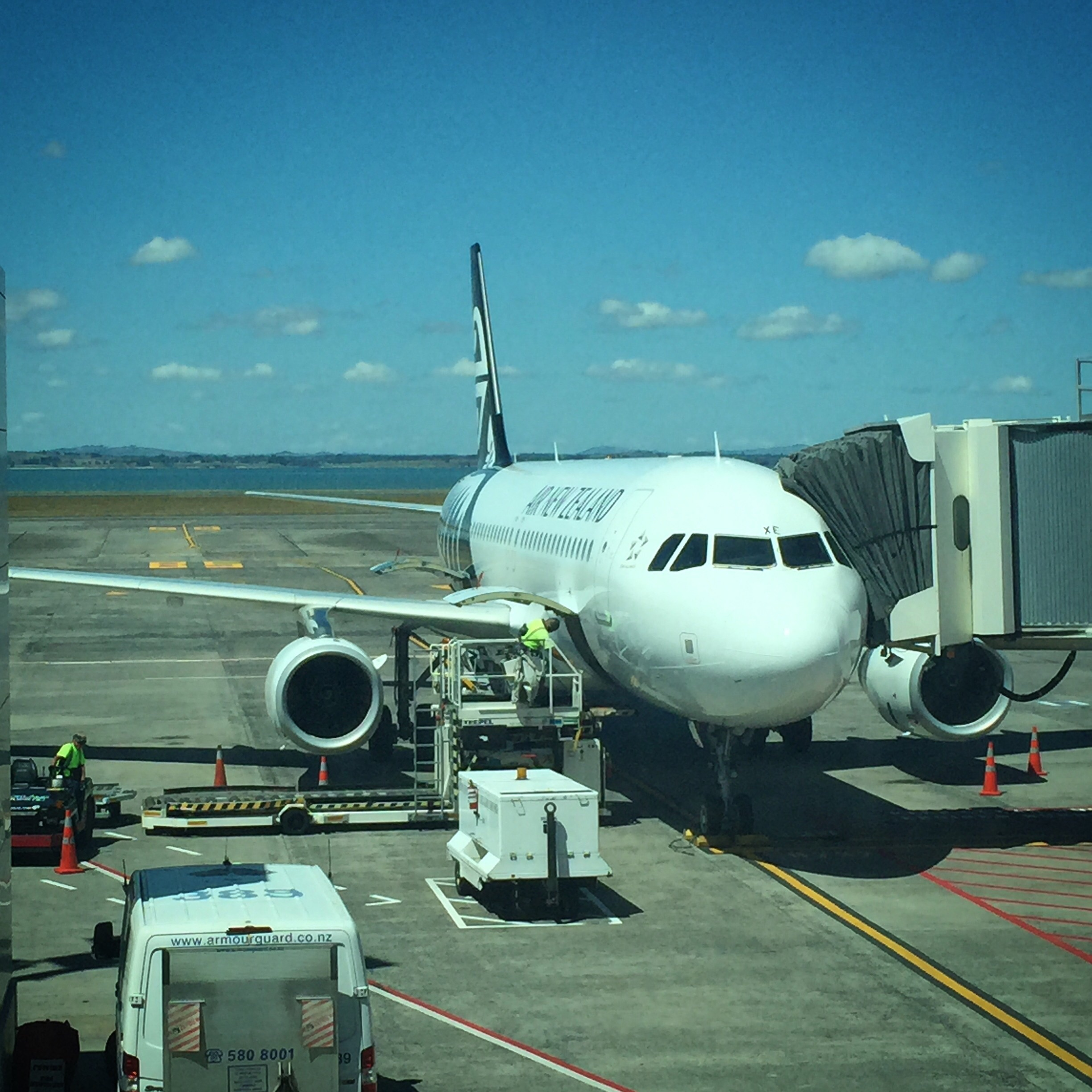 This is me flying to Wellington for Webstock