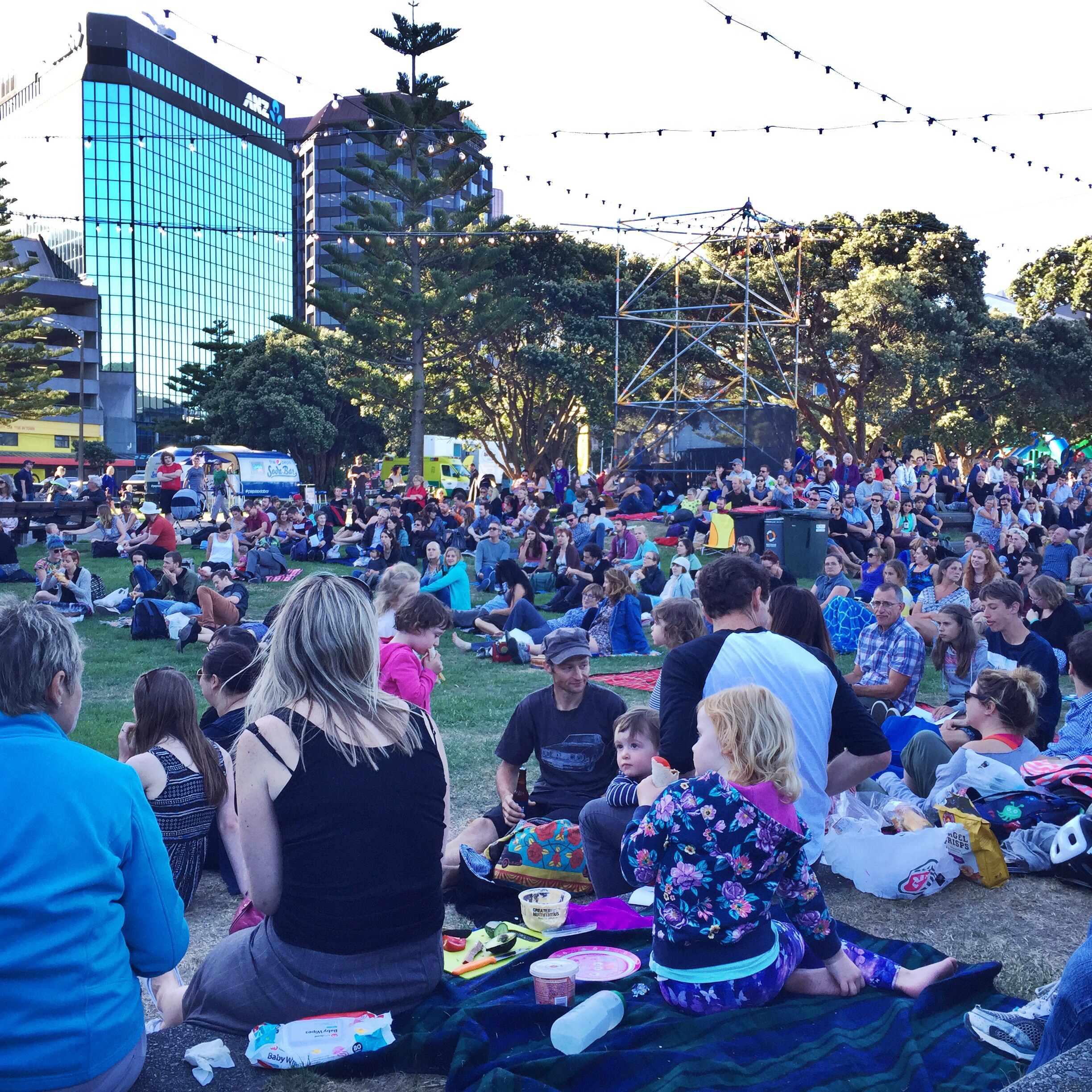 Free music in the park with a great turnout of families eating dinner and listening to sea shanties (who even knew?) before the main act.