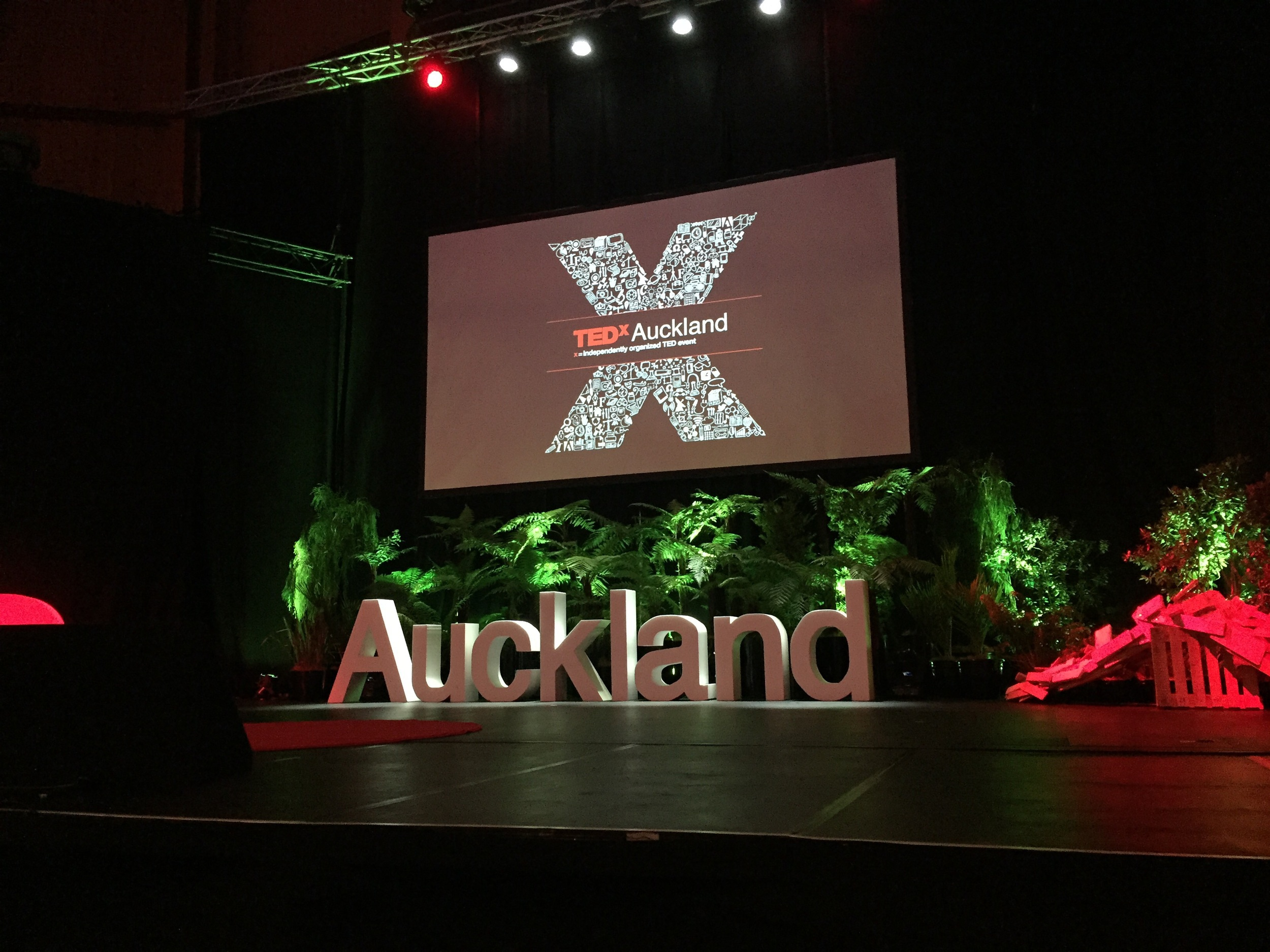 TEDx Auckland stage at the Victory Convention Centre