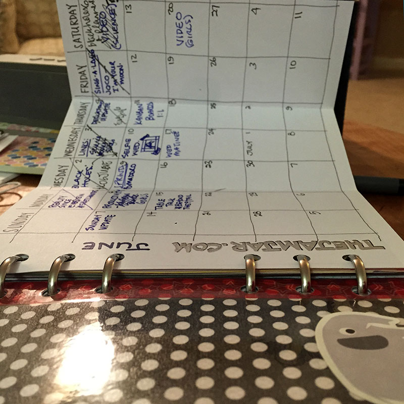 Fold out monthly blog planner
