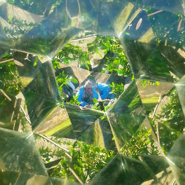 Michelle through the kaleidoscope- photo by Eric Ngan