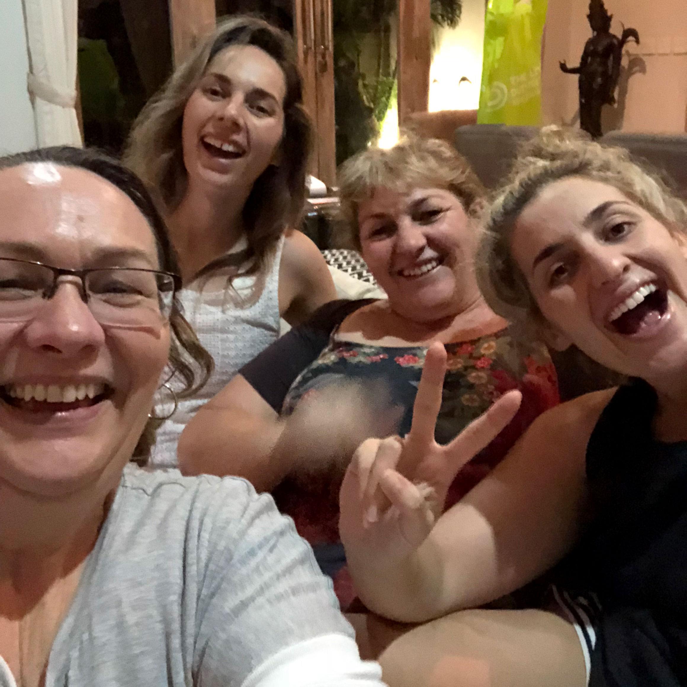 Michelle, Allania, Jo and Delaney Parker.