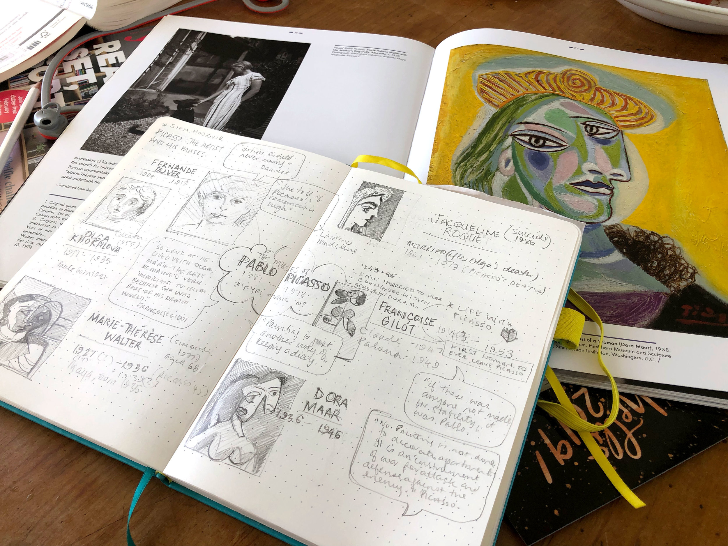 Sketched notes from Picasso: The Artist and His Muses