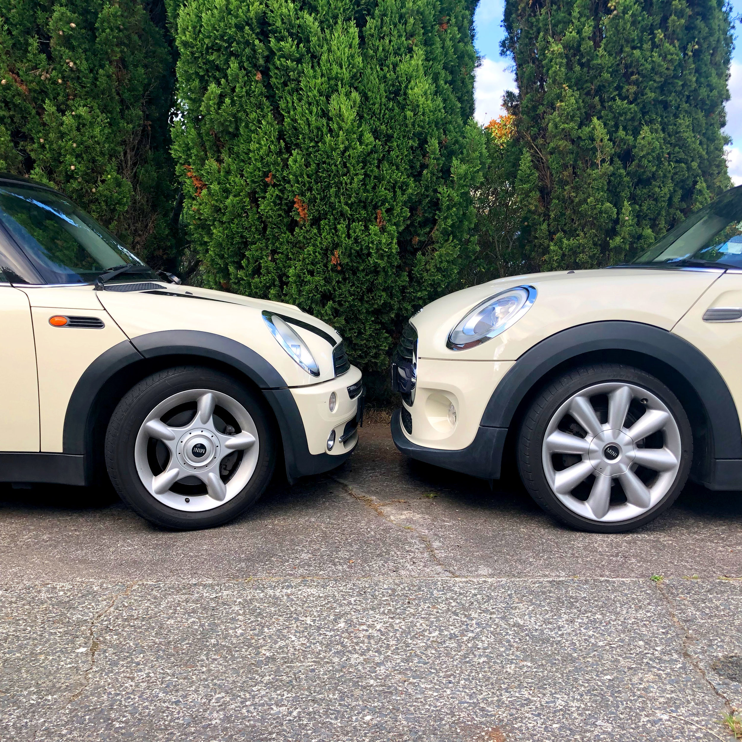 2004 vs 2014 Mini Coopers.