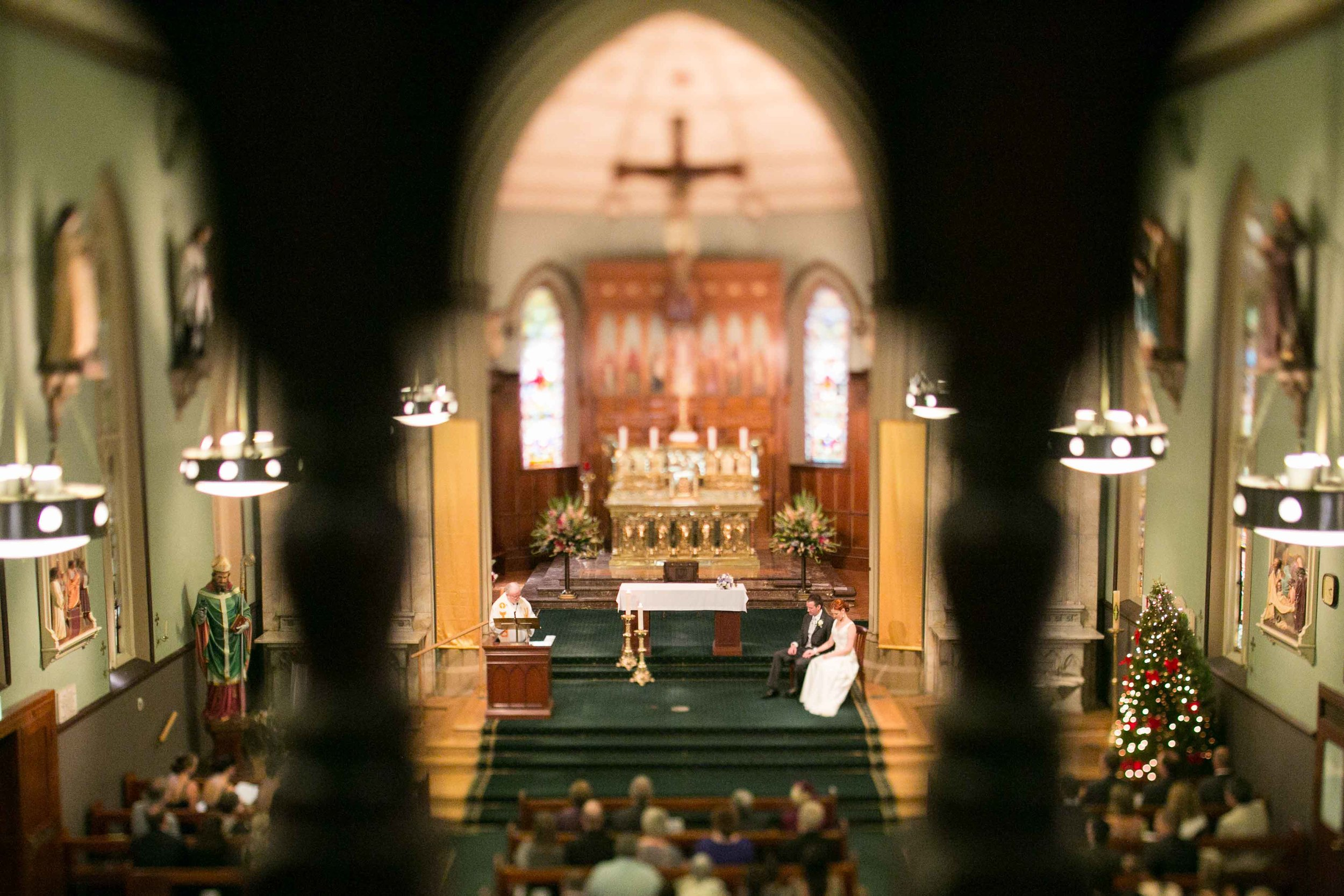 Meredith and Andy wedding ceremony St Patricks Sydney