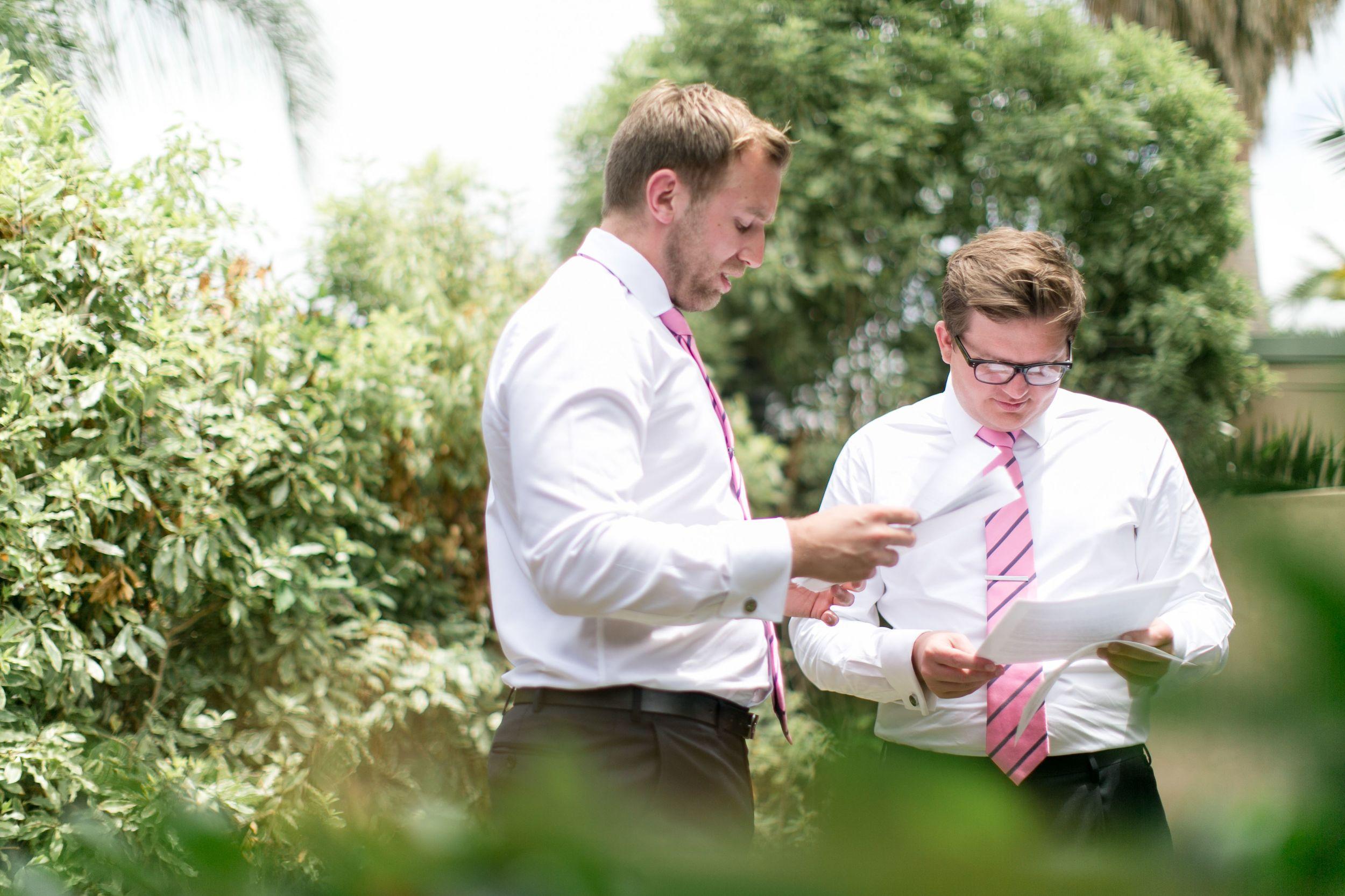 Sarah and Alun wedding Clovelly Sydney Best Men