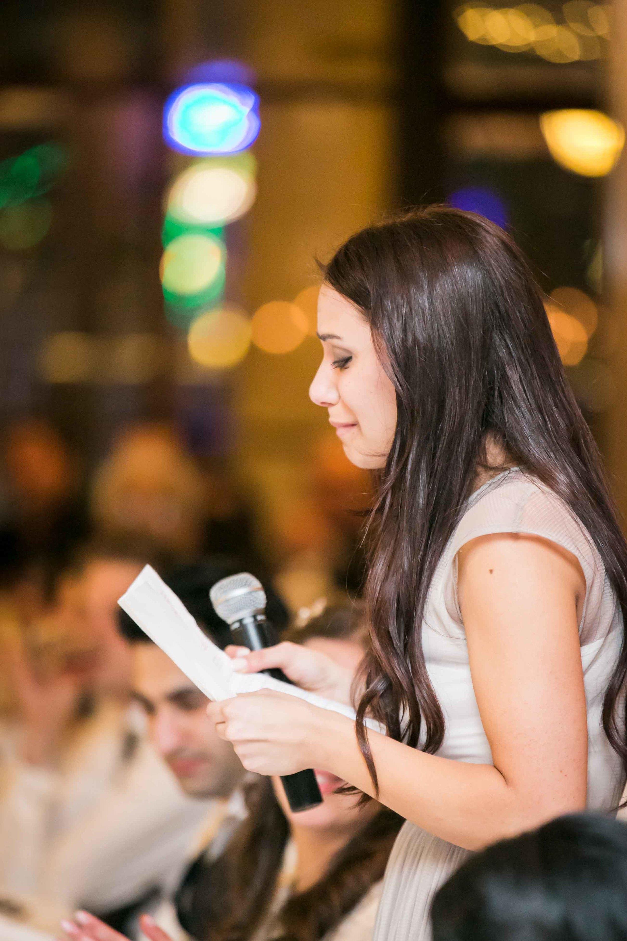 Lana and Andrew wedding reception Dockside Sydney Speeches
