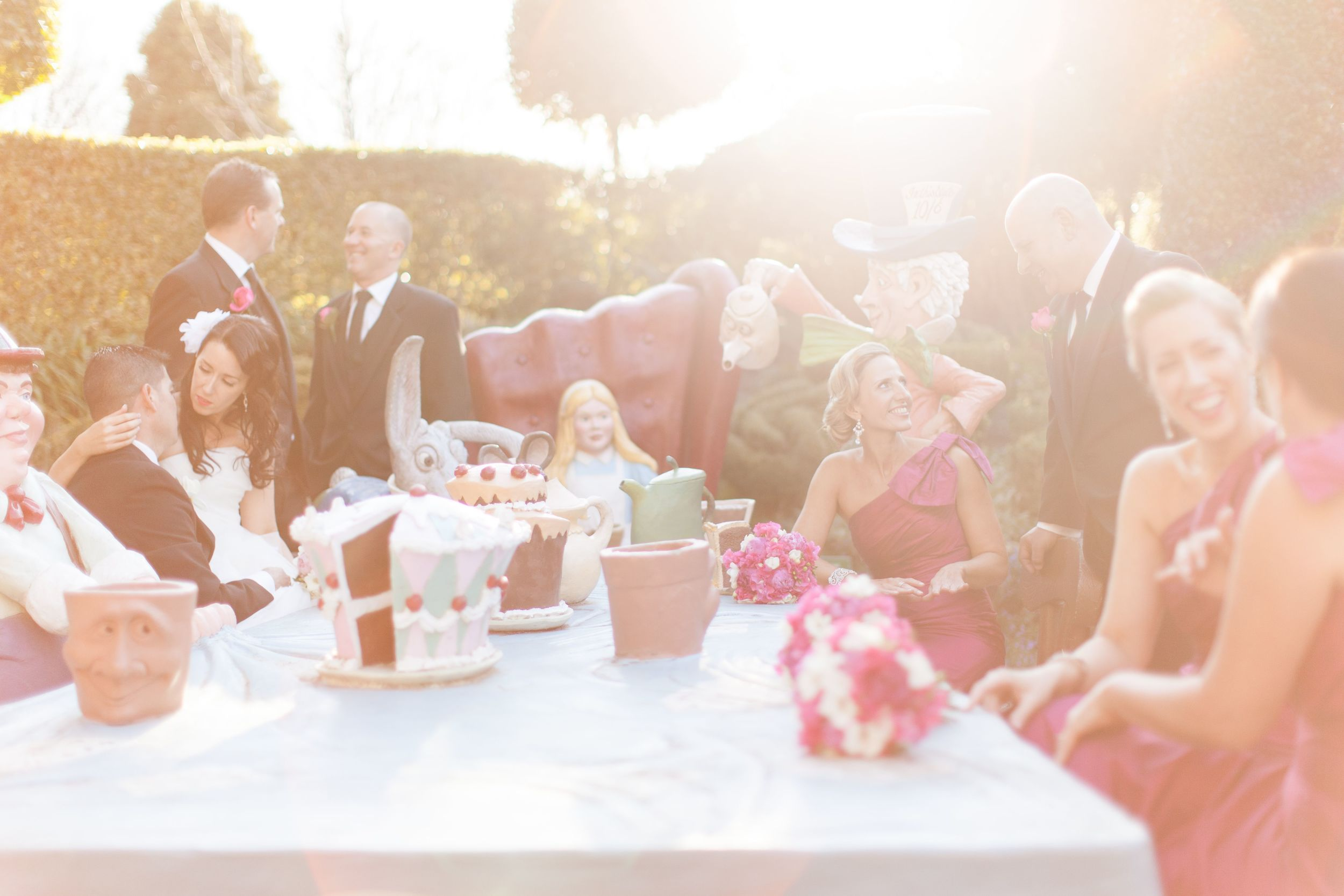 Lee and Rick wedding Hunter Valley Gardens Bridal Party