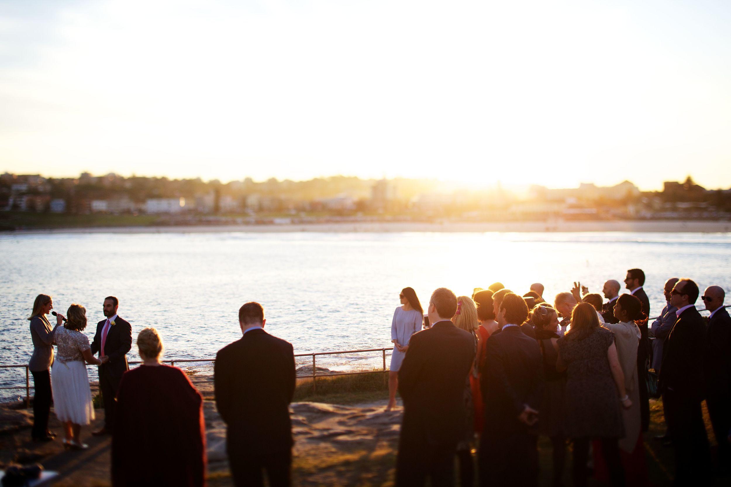Lara and Sab wedding ceremony Bondi Beach Sydney