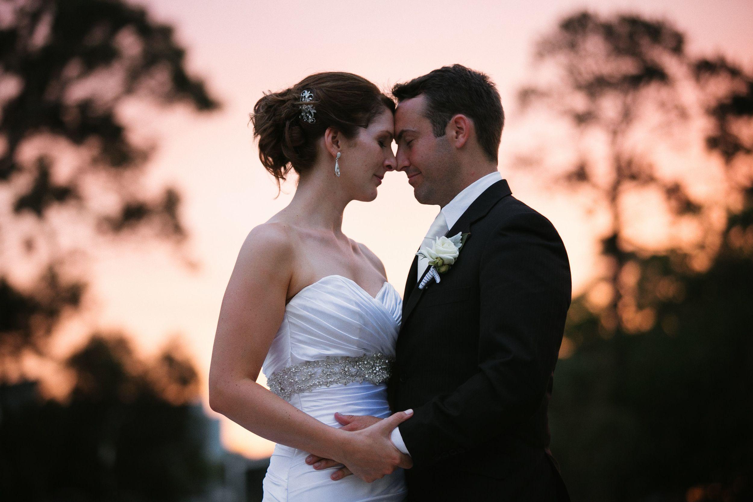Jes and Ian wedding Bay View Golf Club Sydney Sunset